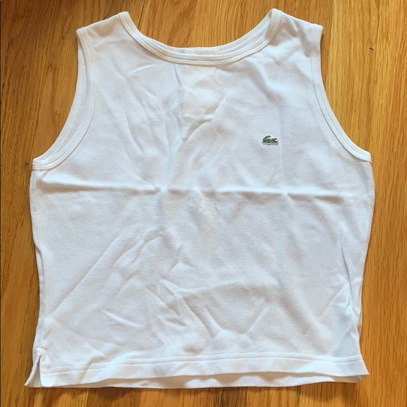 Lacoste Tops - White Lacoste tank top size XS